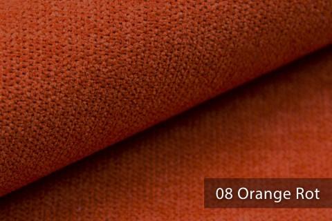 novely® RICKERT - weicher und zeitloser Polsterstoff, Velours mit feiner Textur | Farbe 08 Orange Rot