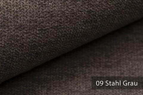 novely® RICKERT - weicher und zeitloser Polsterstoff, Velours mit feiner Textur | Farbe 09 Stahl Grau