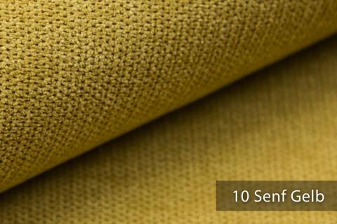 novely® RICKERT - weicher und zeitloser Polsterstoff, Velours mit feiner Textur | Farbe 10 Senf Gelb