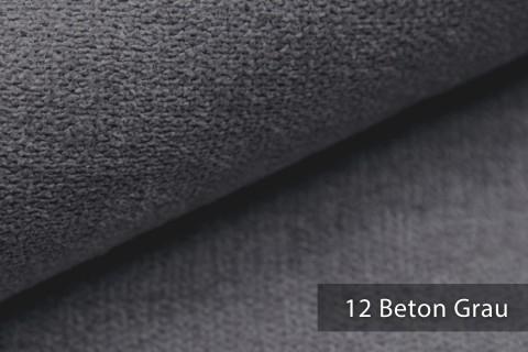 novely® RICKERT - weicher und zeitloser Polsterstoff, Velours mit feiner Textur | Farbe 12 Beton Grau