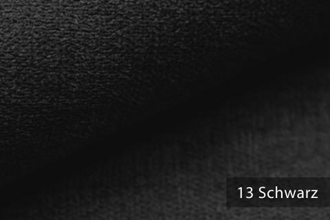 novely® RICKERT - weicher und zeitloser Polsterstoff, Velours mit feiner Textur | Farbe 13 Schwarz