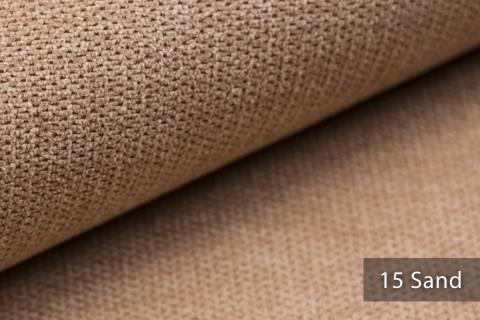 novely® RICKERT - weicher und zeitloser Polsterstoff, Velours mit feiner Textur | Farbe 15 Sand