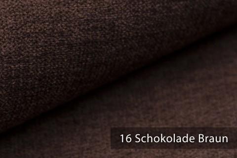 novely® RICKERT - weicher und zeitloser Polsterstoff, Velours mit feiner Textur | Farbe 16 Braun Schokolade
