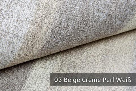 novely® exquisit RIMINI – prunkvoller und eleganter Möbelstoff  | 03 Beige Creme Perl Weiß
