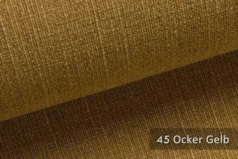novely® ROSENAU – dezenter & schlicht gehaltener Möbelstoff in Baumwoll-Optik | 45 Ocker Gelb