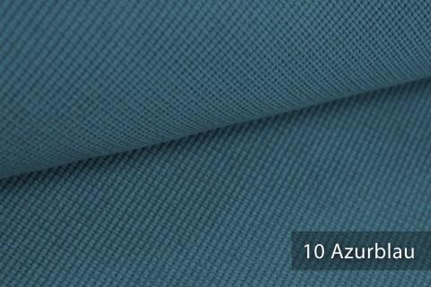 novely® SAVERO | 1 lfm | Velours Polsterstoff | 3D Wabenmuster | Möbelstoff Fein Modern Weich | 10 Azurblau
