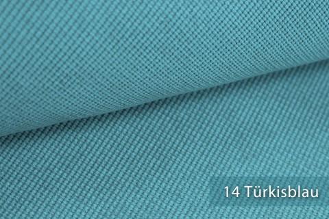 novely® SAVERO | 1 lfm | Velours Polsterstoff | 3D Wabenmuster | Möbelstoff Fein Modern Weich | 14 Türkisblau