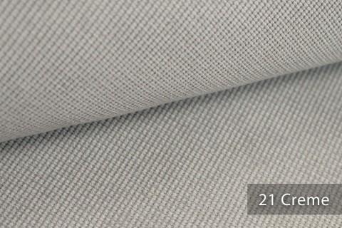 novely® SAVERO | 1 lfm | Velours Polsterstoff | 3D Wabenmuster | Möbelstoff Fein Modern Weich | 21 Creme