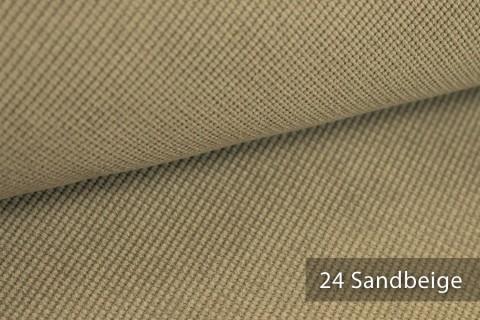 novely® SAVERO | 1 lfm | Velours Polsterstoff | 3D Wabenmuster | Möbelstoff Fein Modern Weich | 24 Sandbeige