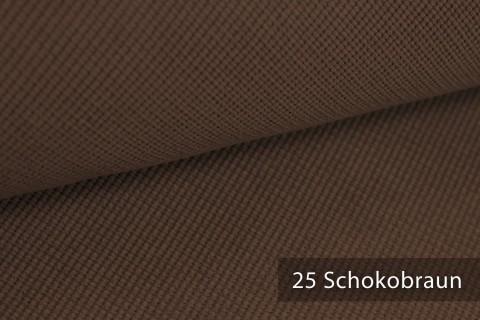 novely® SAVERO | 1 lfm | Velours Polsterstoff | 3D Wabenmuster | Möbelstoff Fein Modern Weich | 25 Schokobraun