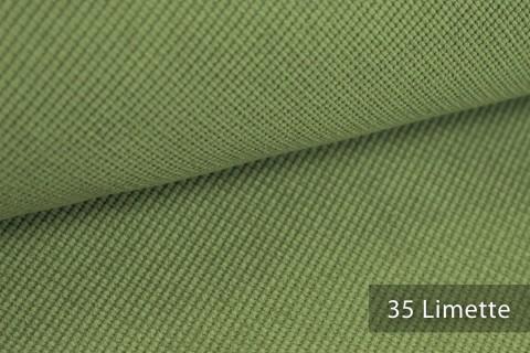 novely® SAVERO | 1 lfm | Velours Polsterstoff | 3D Wabenmuster | Möbelstoff Fein Modern Weich | 35 Limette