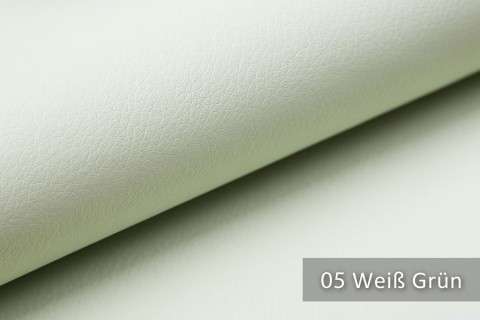 novely® SOLTAU – weiches Kunstleder mit feiner Narbung | Farbe 05 Weiß Grün
