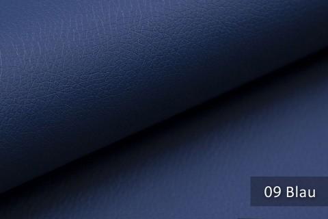novely® SOLTAU – weiches Kunstleder mit feiner Narbung | Farbe 09 Blau