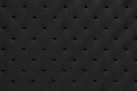 novely® SOLTAU Kunstleder 3-LAGIG gesteppt kaschiert | Volumen Polsterstoff | PUNKTE Möbelstoff Premium | 11 Schwarz