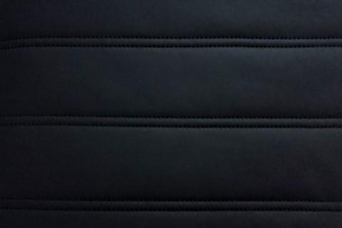 novely® SOLTAU Kunstleder 3-LAGIG gesteppt kaschiert | Volumen Polsterstoff | GP6-SOL-11| STREIFEN 9cm Möbelstoff Premium | 11 Schwarz