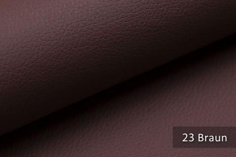 novely® SOLTAU – weiches Kunstleder in Echtleder-Optik | Farbe 23 Braun