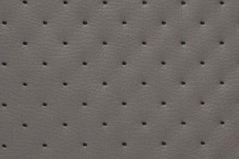 novely® SOLTAU Kunstleder 3-LAGIG gesteppt kaschiert | Volumen Polsterstoff | PUNKTE Möbelstoff Premium | 24 Schlammgrau