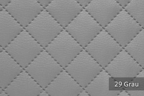 novely® SOLTAU Kunstleder 3-LAGIG gesteppt kaschiert | Volumen Polsterstoff | KARO Möbelstoff Premium | 29 Grau