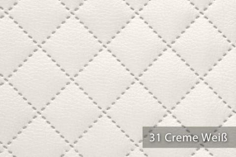novely® SOLTAU Kunstleder 3-LAGIG gesteppt kaschiert | Volumen Polsterstoff | KARO Möbelstoff Premium | 31 Creme Weiß