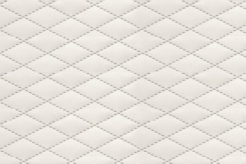 novely® SOLTAU Kunstleder 3-LAGIG gesteppt kaschiert | Polsterstoff | KARO RAUTE XS 4 x 1,5 cm 31 Creme | Möbelstoff | 31 Creme