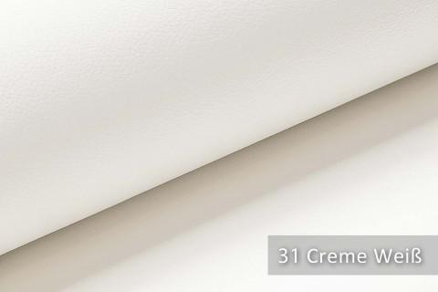 novely® SOLTAU – weiches Kunstleder mit feiner Narbung | Farbe 31 Creme Weiß