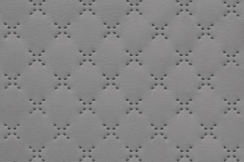 novely® SOLTAU Kunstleder 3-LAGIG gesteppt kaschiert | Volumen Polsterstoff | PUNKTE KREUZE Möbelstoff Premium | 29 Grau