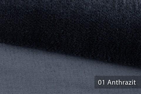 novely® exquisit SORRENTO Teddystoff Plüsch Ultraweich | Polsterstoff schwer entflammbar | 01 Anthrazit