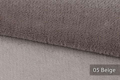 novely® exquisit SORRENTO Teddystoff Plüsch Ultraweich | Polsterstoff schwer entflammbar | 05 Beige