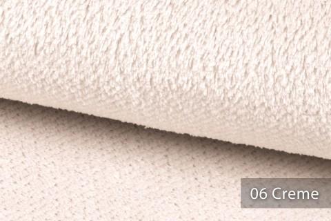novely® exquisit SORRENTO Teddystoff Plüsch Ultraweich | Polsterstoff schwer entflammbar | 06 Creme