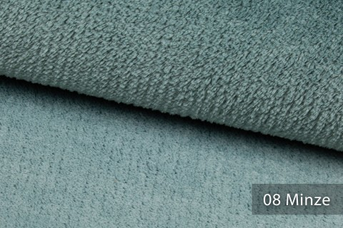 novely® exquisit SORRENTO Teddystoff Plüsch Ultraweich | Polsterstoff schwer entflammbar | 08 Minze Grün