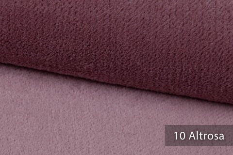 novely® exquisit SORRENTO Teddystoff Plüsch Ultraweich | Polsterstoff schwer entflammbar | 10 Altrosa