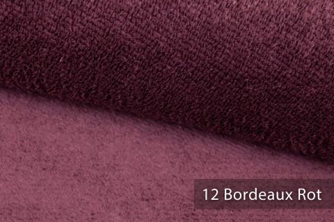 novely® exquisit SORRENTO Teddystoff Plüsch Ultraweich | Polsterstoff schwer entflammbar | 12 Bordeaux