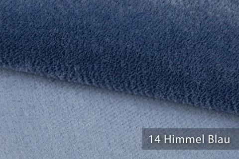 novely® exquisit SORRENTO Teddystoff Plüsch Ultraweich | Polsterstoff schwer entflammbar | 14 Himmel Blau