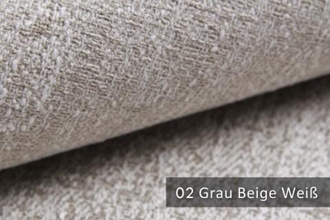 novely® exquisit SPEZZANO – grob strukturierter Möbelstoff | 02 Grau Beige Weiß