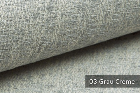 novely® exquisit SPEZZANO – grob strukturierter Möbelstoff | 03 Grau Creme