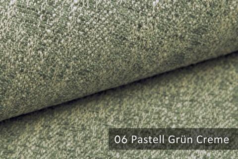 novely® exquisit SPEZZANO – grob strukturierter Möbelstoff | 06 Pastell Grün Creme
