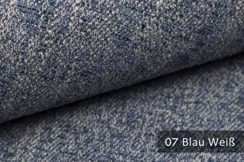 novely® exquisit SPEZZANO – grob strukturierter Möbelstoff | 07 Blau Weiß