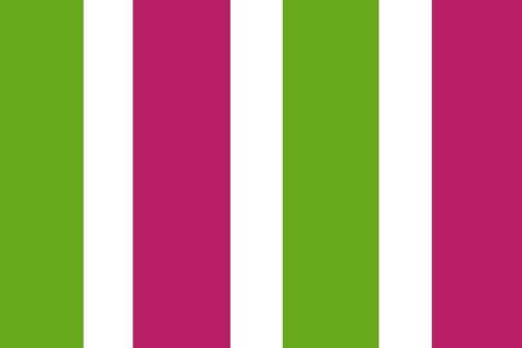 novely® SUNRISE 420D Polyester Stoff | UV-beständig | Farbe W-08-22 Weiß-Pink-Grün