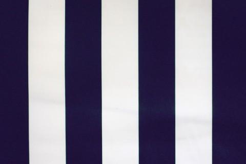 novely® SUNRISE 420D Polyester Stoff | UV-beständig | Farbe W-25 Weiß-Navy Dunkelblau