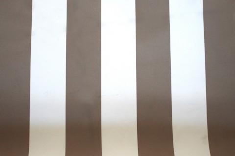 novely® SUNRISE 420D Polyester Stoff | UV-beständig | Farbe W-34 Weiß-Dunkelbeige