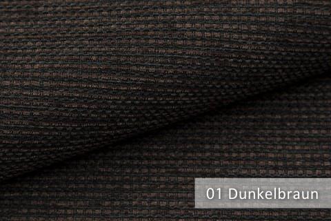 novely® SUTRUM Webstoff | Polsterstoff | Farbe 01 Dunkelbraun