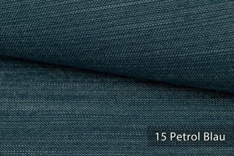 novely® exquisit TERRINO RECYCLING Polsterstoff | Möbelstoff schwer entflammbar | 15 Petrol Blau