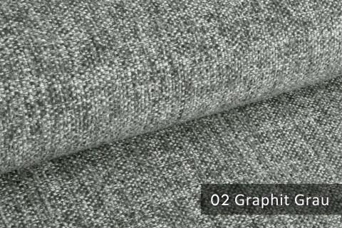 novely® TESSANO samtweicher Chenille Polsterstoff 3D-Optik | schwer entflammbar | 02 Graphit Grau
