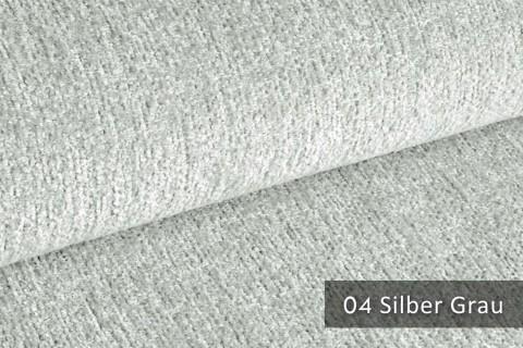 novely® TESSANO samtweicher Chenille Polsterstoff 3D-Optik | schwer entflammbar | 04 Silber Grau
