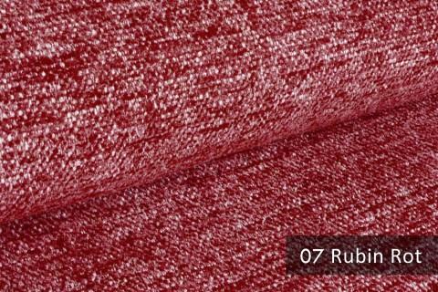 novely® TESSANO samtweicher Chenille Polsterstoff 3D-Optik | schwer entflammbar | 07 Rubin Rot