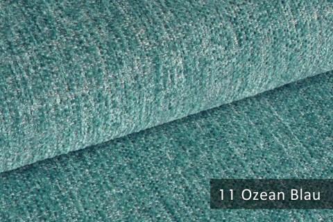 novely® exquisit TESSANO samtweicher Chenille Polsterstoff, schwer entflammbar | 11 Ozean Blau