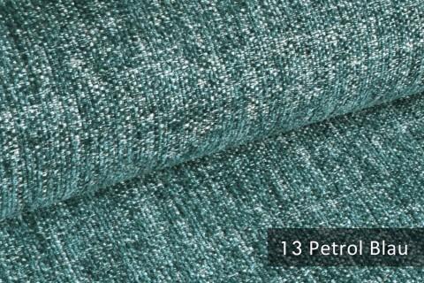 novely® TESSANO samtweicher Chenille Polsterstoff 3D-Optik | schwer entflammbar | 13 Petrol Blau