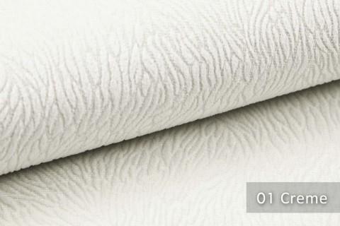 novely® TILDA | samtig weicher Chenille Möbelstoff mit feinem Muster | Farbe 01 Creme