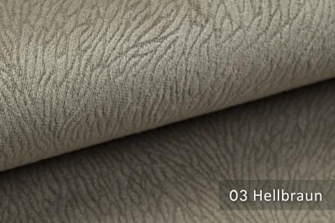 novely® TILDA | samtig weicher Chenille Möbelstoff mit feinem Muster | Farbe 03 Hellbraun
