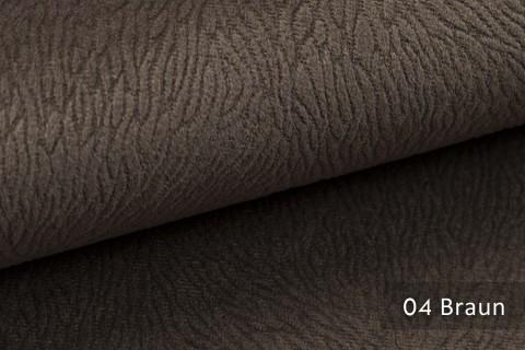 novely® TILDA | samtig weicher Chenille Möbelstoff mit feinem Muster | Farbe 04 Braun